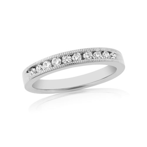 White Gold Diamond Channel Set | Eternity Ring | DR1306W